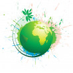 tourbillon grunge globe — Vecteur #4463490