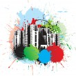 Abstract urban city - Stock Vector