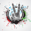 Royalty-Free Stock Vectorielle: Victory hand sign