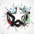 Royalty-Free Stock Vectorafbeeldingen: Abstract grunge star
