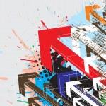 Colorful arrowhead — Stock Vector