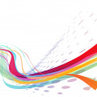 Abstract rainbow wave line — Stock Vector #4463938