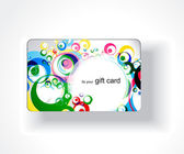 Gift card design — Stock Vector