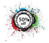 50% discount banner — Stock Vector