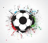 Abstract grunge football — Stock Vector