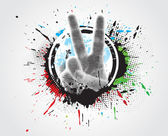 Victory hand sign — Stock Vector