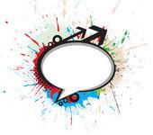 Messenger window grunge icon — Stock Vector
