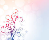 Fondo floral romántica — Vector de stock