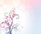 Romantische bloemen achtergrond — Stockvector
