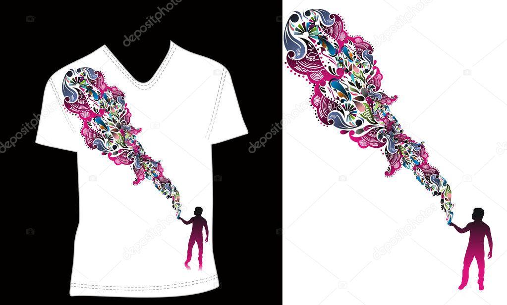 T shirt design stock vector 4462084 for Stock t shirt designs