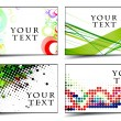 Stock Vector: Abstract discount banners