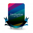 Royalty-Free Stock Векторное изображение: Invitation card