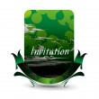 Royalty-Free Stock Imagen vectorial: Invitation card