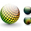 3d sphere — Stock Vector