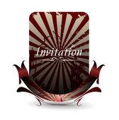 Invitation card — Stock Vector