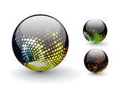 3D sphere — Stock Vector