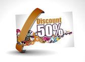 Discount card — Stock Vector