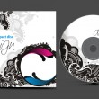 Cd cover design - Stock Vector