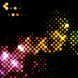 Disco light dots pattern - Vettoriali Stock