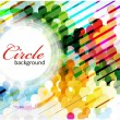 Abstract colorful circle background — Stock Vector