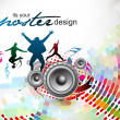 Abstract music background — Vector de stock
