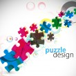 Puzzle pieces — Stock Vector