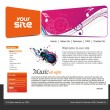 Music web site design - Imagens vectoriais em stock