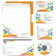 Business style templates - Stok Vektör