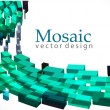 3d mosaic background — Stock Vector