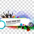 Party banner background - Stok Vektr