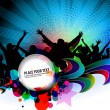 Party banner background - Stockvectorbeeld