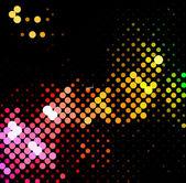 Disco light dots pattern — Stock Vector