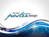 Poster design — Stock Vector