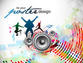 Abstract music background — Vecteur