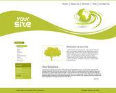 Sitio web de Ecología — Vector de stock