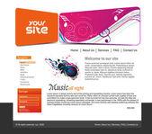 Music web site design — Stock Vector