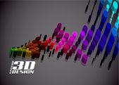 3d doted — Stockvektor