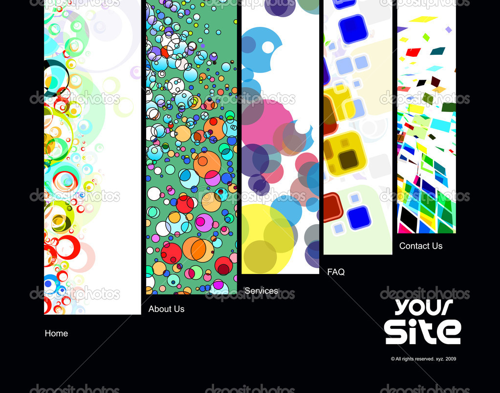 Abstract web site design template, vector illustration. — Stock Vector #4482488