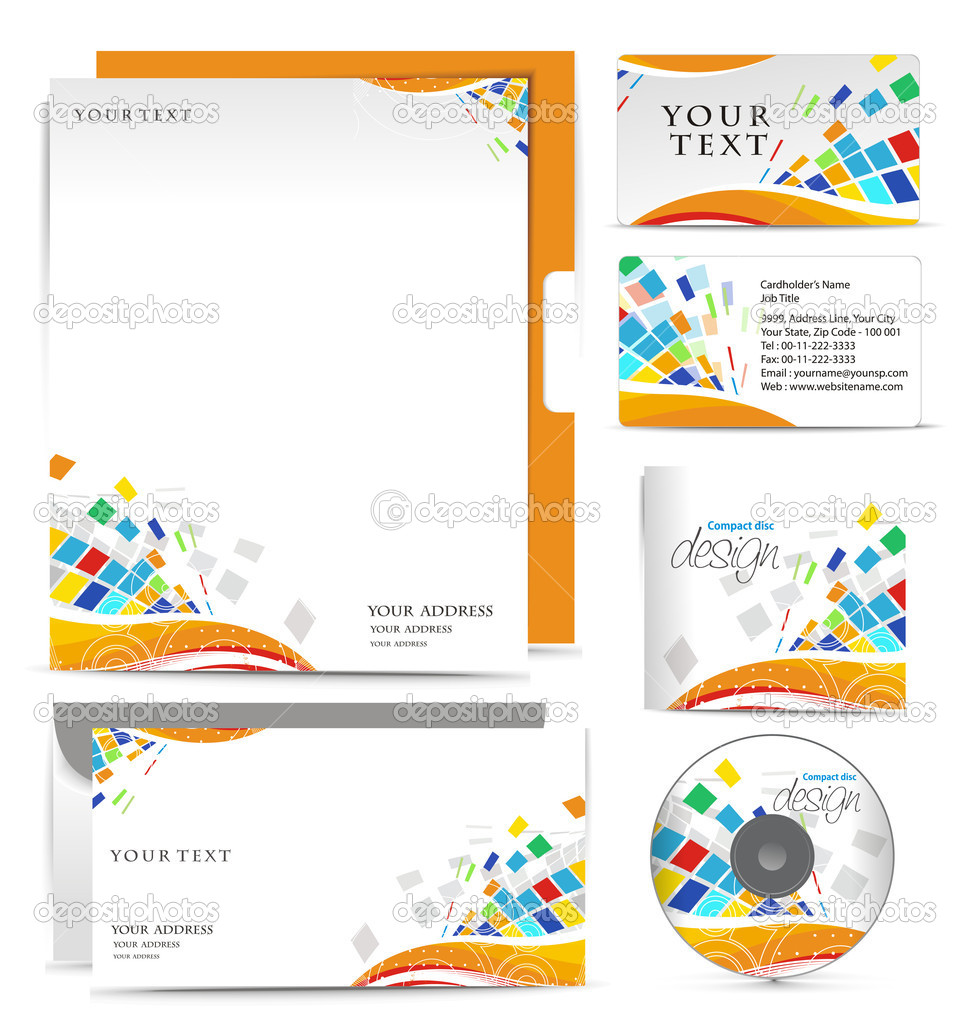 Business style templates for your project design, Vector illustration. — Stock Vector #4482526