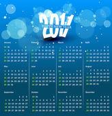 Kolorowy kalendarz 2011 — Wektor stockowy