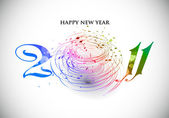 New year 2011 in white background. — Stock Vector