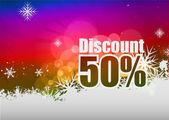 Discount banner — Vettoriale Stock