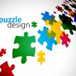 Puzzle pieces — Vector de stock #4606060
