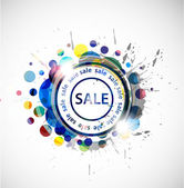 Grunge sale banner — Stock Vector