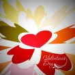 Vector de stock : Valentines day background
