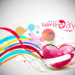 Stock Vector: Valentines day background