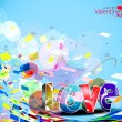 Valentines day background — Stock Vector #4694244