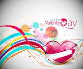 De dag van valentijnskaarten achtergrond — Stockvector