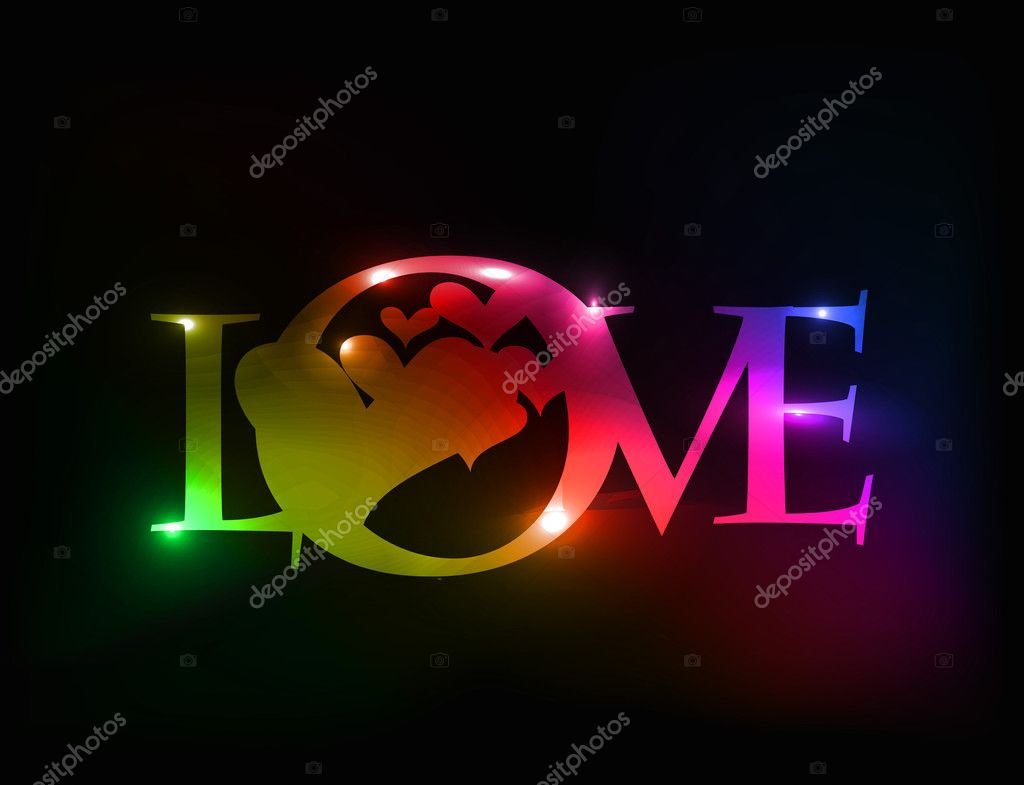 Valentines day colorful love design element background. — Stock Vector #4692836