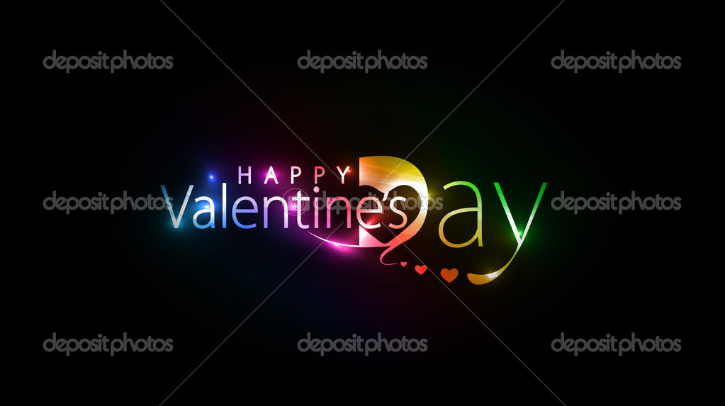 Valentines day colorful design element background.  Stock Vector #4692851